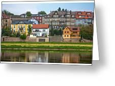 Elbe River Town Greeting Card