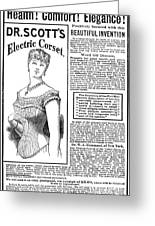 Electric Corset, 1882 Greeting Card