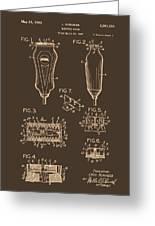 Electric Razor Patent 1940 Greeting Card