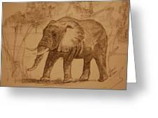 Elephant Walk Greeting Card
