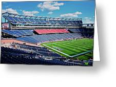 Elevated View Of Gillette Stadium, Home Greeting Card