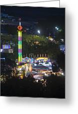 Elevated View Of The 2011 San Mateo County Fair Greeting Card