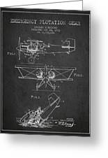 Emergency Flotation Gear Patent Drawing From 1931 Greeting Card by Aged Pixel