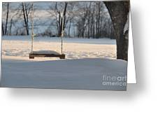 Empty Swing Greeting Card