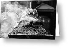 Encens Burning Greeting Card