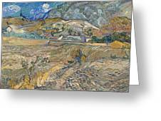 Enclosed Wheat Field With Peasant  Greeting Card