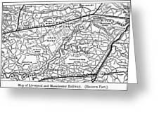 England Railroad Map Greeting Card