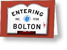 Entering Bolton Greeting Card