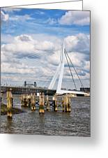 Erasmus Bridge In Rotterdam Greeting Card