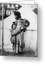 Eskimo Woman And Child Greeting Card