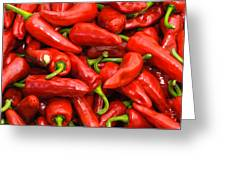 Espelette Peppers Greeting Card