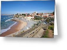 Estoril Beach In Portugal Greeting Card