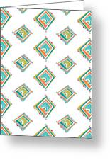 Ethnic Window Greeting Card by Susan Claire
