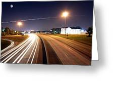 Evening Traffic On Highway Greeting Card