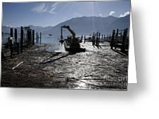 Excavator Clean A Harbor Greeting Card