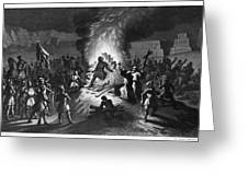 Execution Of Atahualpa Greeting Card