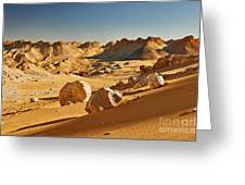 Expressive Landscape With Mountains In Egyptian Desert  Greeting Card