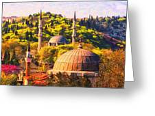 Eyup Sultan Mosque Greeting Card