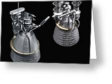 F-1 And J-2 Rocket Engines Greeting Card