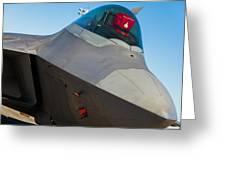 F-22 Raptor Jet Greeting Card