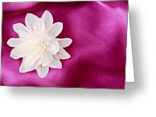 Fabric Flower Greeting Card