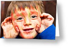 Face Paint Greeting Card