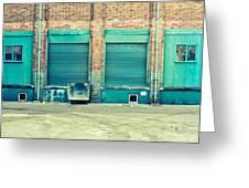 Factory Doors Greeting Card