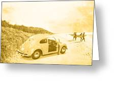 Faded Film Surfing Memories Greeting Card
