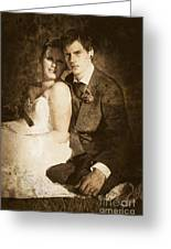 Faded Vintage Wedding Photograph Greeting Card