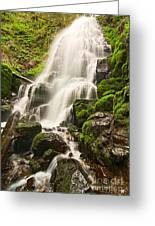 Fairy Falls In The Columbia River Gorge Area Of Oregon Greeting Card