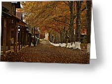 Fall Camp Greeting Card