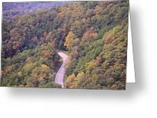 Fall Drive In The Smokies Greeting Card
