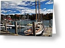 Fall In The Harbor Greeting Card