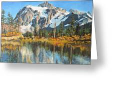 Fall Reflections - Cascade Mountains Greeting Card