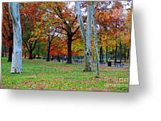 Fall Walk Greeting Card