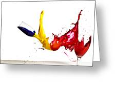 Falling Glasses Of Paint Greeting Card