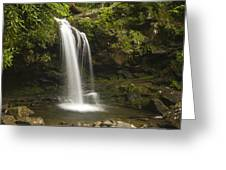 Falling Water Greeting Card by Andrew Soundarajan