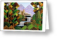Falling Waters Greeting Card