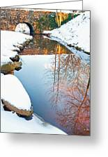Falls Park In Snow Greeting Card