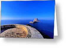 Famous Tower Of Savinar On Ibiza Island Greeting Card