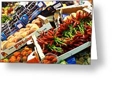 Farmers Market Florence Italy Greeting Card