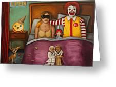 Fast Food Nightmare Greeting Card