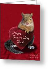 Father's Day Squirrel Greeting Card