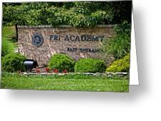 Fbi Academy Quantico Greeting Card
