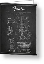 Fender Guitar Patent Drawing From 1961 Greeting Card