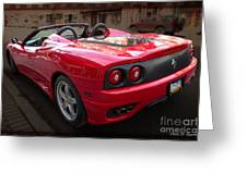 Ferrari 360 Spider Greeting Card