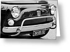 Fiat 500 L Front End Greeting Card