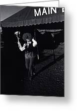 Film Homage Charlie Chaplin The Circus 1928 Clown Strong Circus Bisbee Arizona 1980 Greeting Card