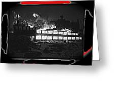Film Homage Chris Marker La Jetee 1962 Winter Fire Collage Aberdeen South Dakota 1965-2013 Greeting Card