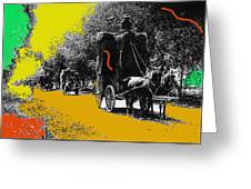 Film Homage Haskell Wexler Days Of Heaven Hay Wagons 1878-2008 Greeting Card